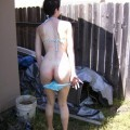 Amateur tina outdoor