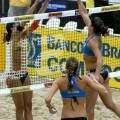 Hot sexy beach volleyball girls in bikinis