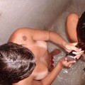 Teens in the shower