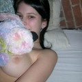 Cute teen toying