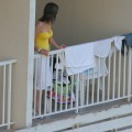 Voyeur shots on hotel balcony