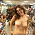 Girls flashing in public
