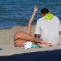 Voyeur on russian nude beach