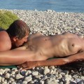 Fucking couple on the beach