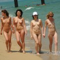 Small boobies at nudist beach