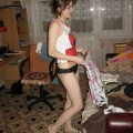 Young girlfriend naked at home
