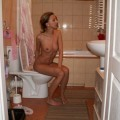Naked hot wife at home