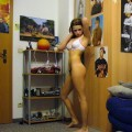 Young gf becca pose at home