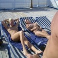 Nude girls on the boat