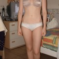 Girlfriend in underwear and naked