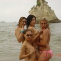 Young girls naked on the beach - 57