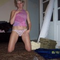 Blonde wife in new flat