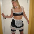 Norwegian girl posing as maid