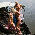 Nude riverboot trip