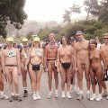 Nude groups - couples naked in public