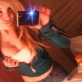 Young blonde selfshots