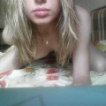 Russian blonde cutie mobile phone selfshot