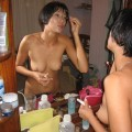 Naked asian wife