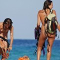 Three hot teens on the nudist beach 3