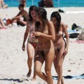 Three hot teens on the nudist beach 1 - 29
