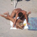 Spying a couple fucking on the beach