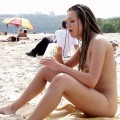 Nude girls by the river - 14