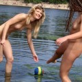 Nude girls by the river - 13
