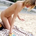 Nude girls by the river - 12
