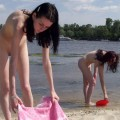 Nude girls by the river - 09