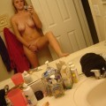 Selfshots - blonde show her naked body