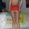 Hot girlfriend naked in bedroom