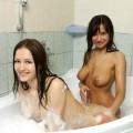 Girls in bath 25
