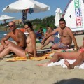 Couples in vacation - bulgarian beach