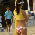 Sexy beach volley ball girl