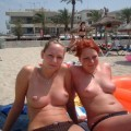 Two girl on beach