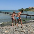 Couples in vacation @ bulgarian beach