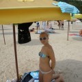 Sexy blonde and her pics from beach and hotelroom - 88