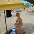 Sexy blonde and her pics from beach and hotelroom