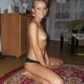 Skinny blonde teen gets naked showing body