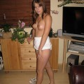 Cindy - amateur teen in white thong