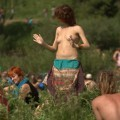 Naked russian girls at a music festival