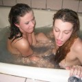 Lesbians shave each other