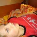 Selfshots - amateur teen in undewear on the bed