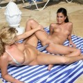 Lesbians in the pool