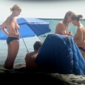 Trio of hot german teens naked on the beach - 66