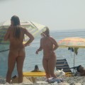 Trio of hot german teens naked on the beach - 8