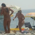 Trio of hot german teens naked on the beach - 9