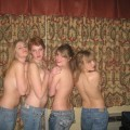 Girl topless party