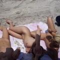 Licking lesbians on beach - 26