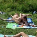 Russian amateurs nudist outdoor fun - 6